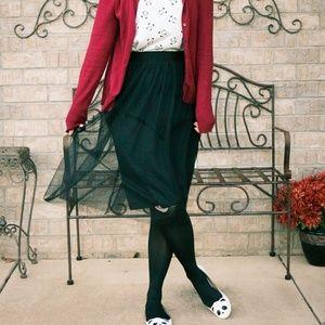 Dresses & Skirts - Black, Midi Length, Tulle Skirt from Maurices